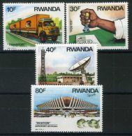 RWANDA ( POSTE) : Y&T N°  1198/1201  TIMBRES  NEUFS  SANS  TRACE  DE  CHARNIERE , A  VOIR . - Rwanda