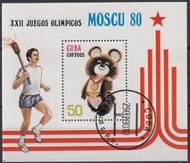 CUBA 1980 HB-60 USADO - Blocs-feuillets