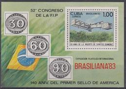 CUBA 1983 HB-77 USADO - Blocs-feuillets