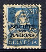 Svizzera Servizio 1924-37 Societé De Nations N. 54 C. 30 Azzurro Su Camoscio Usato Cat. € 12 - Servizio
