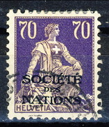 Svizzera Servizio 1924-37 Societé De Nations N. 56 C. 70 Viola E Bistro Usato Cat. € 58 - Servizio