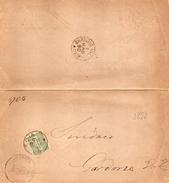 1890 LETTERA CON ANNULLO BRESCIA + GARDONE - 1878-00 Umberto I