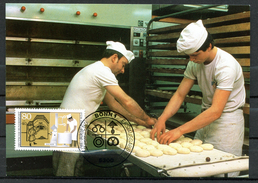 "Germany,Allemagne 1986 Maxicart,MC Mi.Nr.1277 ""Handwerksberufe,Bäcker,Jugendmarke"" 1MK Used - Factories & Industries"