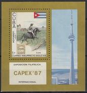 CUBA 1987 HB-98 USADO - Blocs-feuillets