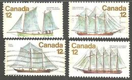 Sc.# 744-47 Sailing Vessels Used Set 1977 K818 - 1952-.... Règne D'Elizabeth II