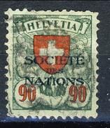 Svizzera Servizio 1924-37 Societé De Nations N. 57 C. 90 Verde E Rosso Usato Cat. € 27 - Servizio