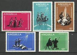 ANGUILLA  1968  CHRISTMAS   SET MNH - Anguilla (1968-...)