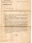 1895  LETTERA CON ANNULLO MOGLIANO VENETO TREVISO - CASA RICOVERO PER VECCHI - Storia Postale