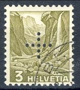 Svizzera Servizio 1937 Croce Perforata N. 132A C. 3 Oliva Usato Cat. € 14 - Servizio