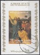 "1799 Ajman 1973 ""Gesù Consegna Le Chiavi A S. Pietro"" Quadro Dipinto Da J.A.D. Ingres Preoblit. Neoclassicismo Painting"