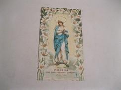 BEATA VERGINE IMMACOLATA Santino  Con Preghiera Al Retro 1903 - Religion & Esotericism