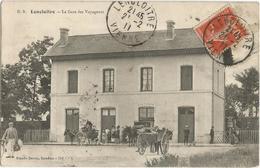Lencloitre La Gare Des Voyageurs  Tres Belle Animation Circulee En 1911 - Lencloitre