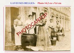 LAVEUSES Belges-Machine A Laver-TECHNIQUE-Non Situee-PHOTO Allemande-Guerre 14-18-1 WK-Belgique- - Professions