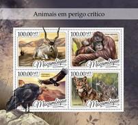 Mozambico 2016, Animals, Volture, Wolf, Gorillas, 4val In BF