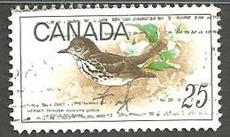 Sc.# 498 Birds, Hermet Thrush HV Single Used 1969 K823 - 1952-.... Règne D'Elizabeth II
