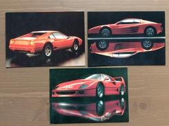 Trittico Di Cartoline Ferrari Con Annullo VIII Olimpiade Nazionale Di Matematica Cesenatico (FO) 24-4-1992 - Grand Prix / F1