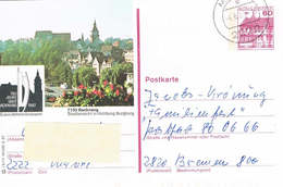 Deutschland Bildpostkarte Backnang - 750 Jahre Stadt; Stadtansicht; Burg Berg - Bildpostkarten - Gebraucht