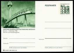 79128) BRD - Bildpostkarte P 86 - A12/90 - * Ungebraucht - 15Pf Tegel - München IVA Minirail Und Ausstellungsturm - [7] West-Duitsland