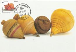 TARJETA MAXIMA. JUGUETES. PEONZAS. AÑO 2006 - Maximum Cards