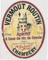 étiquette   - 1940/60 - VERMOUTH Routin  à Base De Vin De Savoie - Other