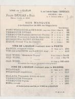 étiquette   -1940/60  Vin De Liqueur JULES LUCAS  Tarif Au Dos D'une étiquette De Vin Vieux - Labels
