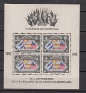 Honduras 1951,4V In Block,ovpt UPU 75 Aniversario 1874-1949 ,MNH/Postfris(L2933) - UPU (Wereldpostunie)