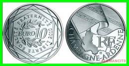 """FRANCIA SERIE """"EUROS REGIONES""""     MONEDA DE 10 €   PLATA ---    ---  AÑO 2010 - Francia"""