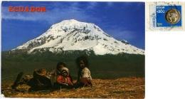 ECUADOR  Mt. Chimborazo  Giant Of The Andes  Ecuadorians Children  Nice Stamp - Ecuador