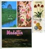COLOMBIA   MEDELLIN  Multiview  Piedra Del Peñol  Panorama Nocturno  Nice Stamps - Colombia