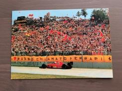 Cartolina Curva Tosa Autodromo Imola Con Timbro Rosso Commemorativo G. Villenueve 8-5-1992 - Grand Prix / F1