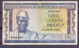 Guinea 500 Fr 1960 VF - Guinée
