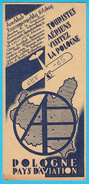 POLISH AIRLINES - Aeroklub Rzeczypospolitej Polskiej * Original Vintage Flyer Issued Before WW2 * Poland Polska Pologne - Advertisements