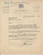 PARIS KOPKE PROPRIETAIRES DE VIGNOBLES A MARGAUX ET CLICHY LETTRE GODARD HOTEL DU BON LABOUREUR A ST GERMAIN ANNEE 1933 - France