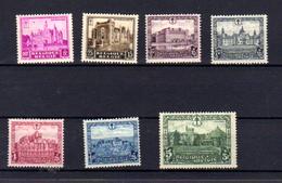1930  Châteaux Tourisme  Schloss Castel   Yv., 308 / 314*, Cote 60 €, - Bélgica