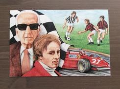Cartolina Ferrari Club Vignola Ricordando Gilles Villeneuve Annullo Omaggio A Gilles Villeneuve Imola (BO) 16-5-92 - Grand Prix / F1