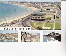 CPSM/gf  (35) SAINT-MALO. Multivues.  Cité Corsaire, Casino Et Plage De Rochebonne Vers Paramé ...D545 - Saint Malo