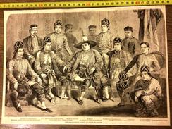 GRAVURE 1857 LES AMBASSADEURS SIAMOIS A L HOTEL DU LOUVRE - Colecciones