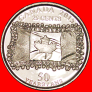 § FLAG: CANADA ★ 25 CENTS 2015 UNC MINT LUSTER! LOW START ★ NO RESERVE! - Canada