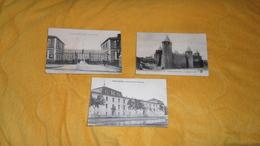 LOT DE 3 CARTES POSTALES ANCIENNES CIRCULEES DE 1916. / CARCASSONNE.- CASERNE D'IENA, LE CHATEAU, CASERNE DU 3E D'ARTILL - Carcassonne