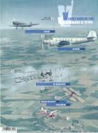 2016 - Feuillet Non Perforé - Aviation Belge - Vol à Travers Le Temps