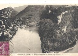 BASSIN DU DOUBS - LE DERNIER BASSIN ET LE ROCHER DU SPHINX . AFFR SUR RECTO EN 1938 - France