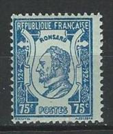 """Yt 209 """" Pierre De Ronsard 75c. Bleu Sur Azuré """" 1924 Neuf **"""