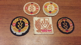 Old Canvas Tag, Patches - IVV, Internationaler Volkssportverband - Ecussons Tissu