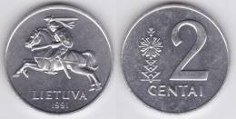 Lituania 2 Centai 1.991 Aluminio KM#86 SC/UNC     T-DL-10.226 - Lituania