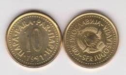 YUGOSLAVIA  10  PARA  1.991   CU  ZN  KM#139  SC/UNC  T-DL-10.295 - Yugoslavia