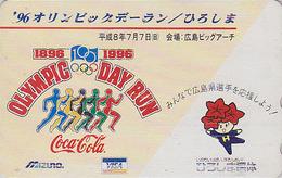 Télécarte Japon / 110-011 - COCA COLA - JEUX OLYMPIQUES - COKE OLYMPIC GAMES Sport Japan Phonecard - 2559 - Jeux Olympiques