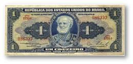 BRASIL - 1 CRUZEIRO - ND (1954 ) - P 150.a - Serie 1731.ª - Sign. 2 - W/o Estampa ( 1A ) - Marquês De Tamandaré - Brasile