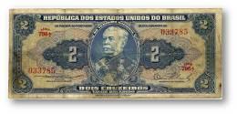 BRASIL - 2 CRUZEIROS - ND (1954 ) - P 151.a - Serie 796.ª - Sign. 2 - W/o Estampa ( 1A ) - Duque De Caxias - Brazil