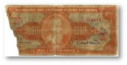 BRASIL - 1000 CRUZEIROS - ND (1963 ) - P 181 - Sign. 12 - Serie 901.ª - Estampa 2A - Pedro Alvares Cabral - Brasil