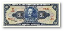 BRASIL - 200 CRUZEIROS - ND ( 1964 ) - P 171.b - Sign. 13 - Serie 1318.ª - Estampa 1A - Dom Pedro I - Brasilien